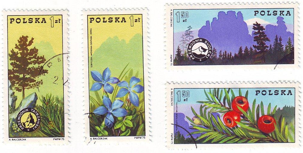 Polish Postage Stamps - 1975