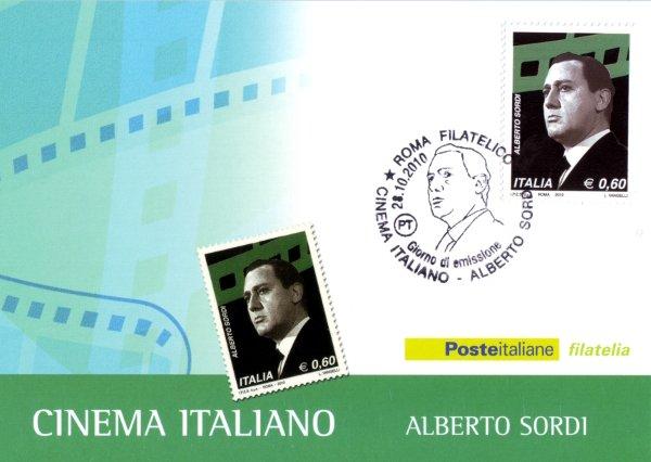 Alberto Sordi  - Italian Cinema postage stamp 2010
