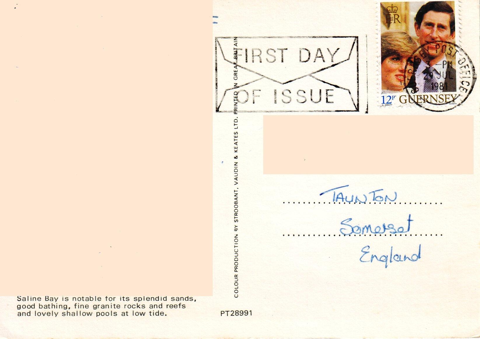 Charles & Diana Wedding Stamp - Guernsey