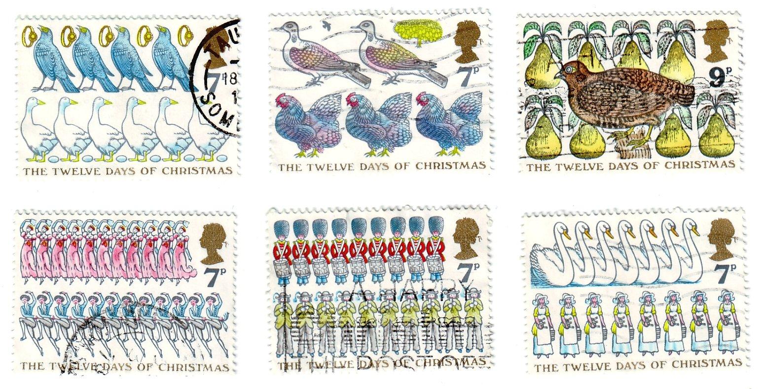 GB Christmas Stamps 1977