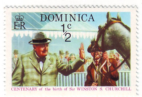 Winston Churchill Postage Stamp - Dominica