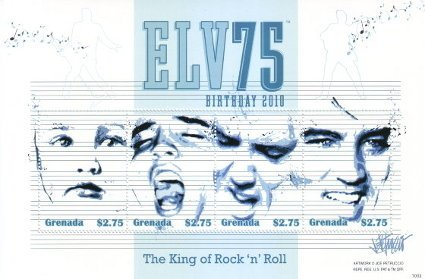 Elv75 - Grenada Elvis Presley postage stamps