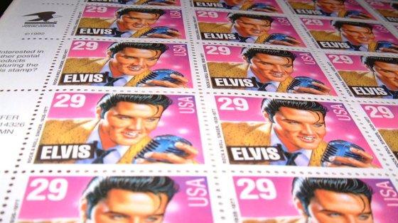 Elvis on Stamps