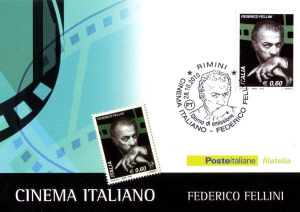 Federico Fellini -  Italian Cinema postage stamp 2010