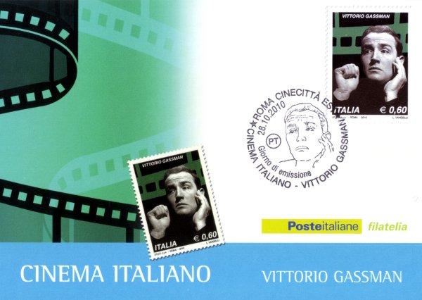 Vittorio Gassman - Italian Cinema postage stamp 2010