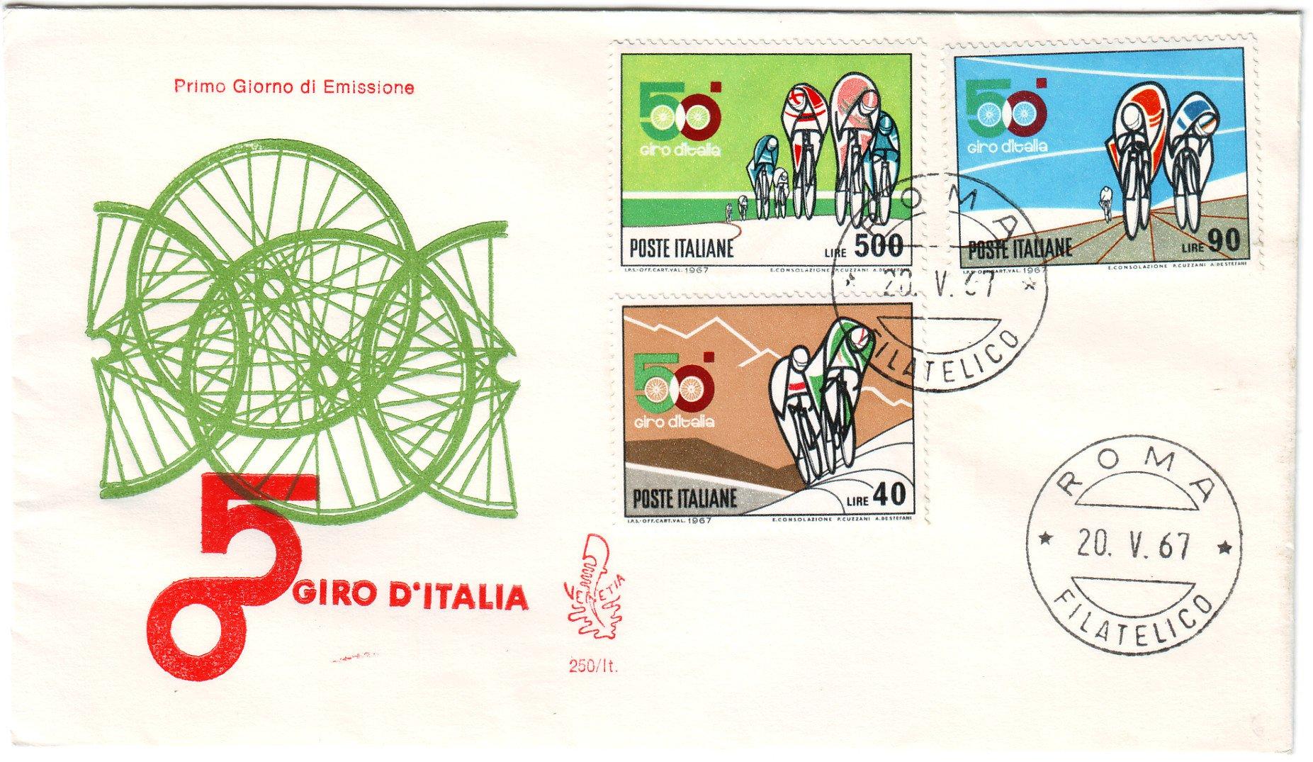 Italian - 50th Giro d'Italia -1967- FDC