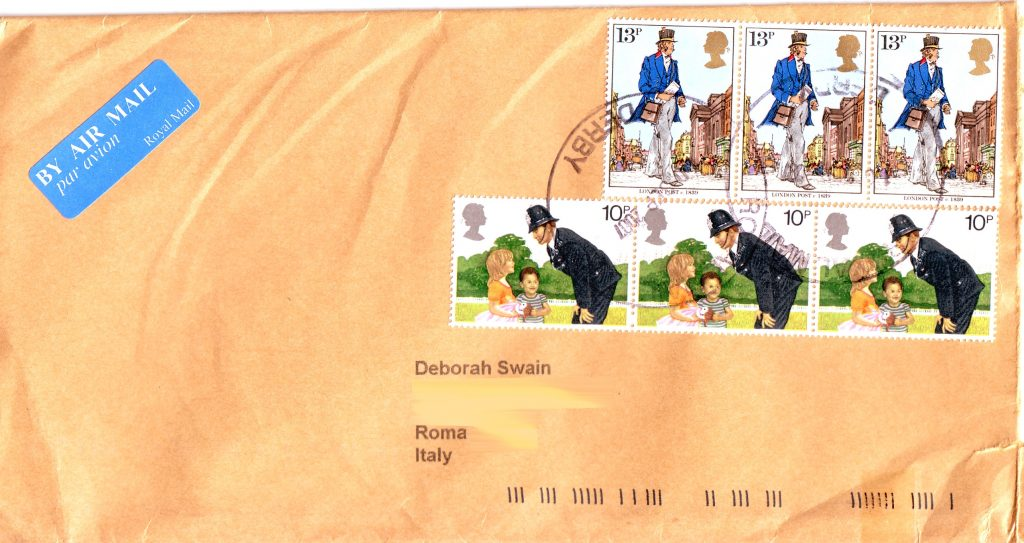 1979 commemorative stamps posted in 2007