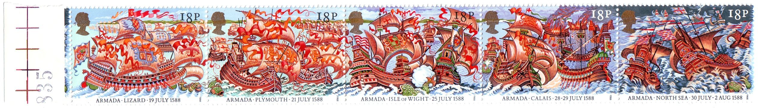 Spanish Armada 400th Anniversary Postage Stamps -1988